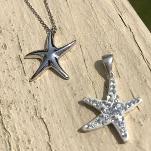 Sterling Silver Starfish Set